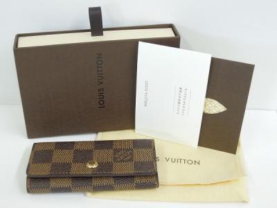 LOUIS VUITTON ルイヴィトン ミュルティクレ4 N62631 4連キーケース ダミエ