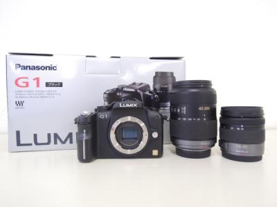 Panasonic パナソニック LUMIX G1 ダブルズームレンズキット DMC-G1W-K カメラ ミラーレス一眼 コンフォートブラック