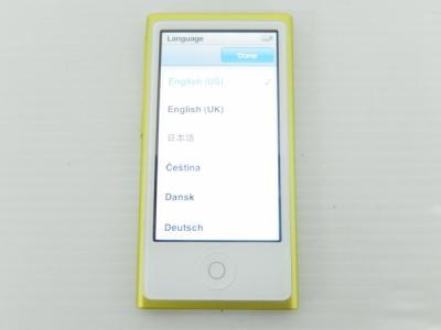 Apple アップル iPod nano MD476J/A 16GB ポータブル音楽プレーヤー イエロー 第7世代