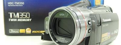 Panasonic パナソニック ビデオカメラ HDC-TM350 ハイビジョン メタリックグレー予備バッテリー付