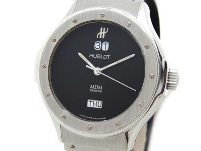 HUBLOT ウブロ デイデイト 1840.1 腕時計 メンズ ブラック SS ラバーベルト 自動巻