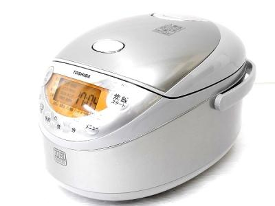 TOSHIBA 東芝 鍛造かまど銀釜 RC-6XG (S) IH 炊飯器 3.5合 シルバー