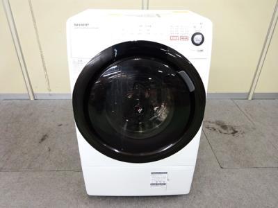 SHARP シャープ ES-S60-WL 洗濯機 ドラム式 6.0kg 左開き ホワイト系