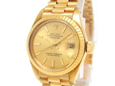 ROLEX ロレックス デイトジャスト 6917/8 K18YG 腕時計 金無垢 レディース 自動巻き