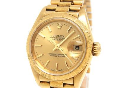 ROLEX ロレックス デイトジャスト バーク 69278 K18YG 金無垢 レディース 自動巻き 腕時計