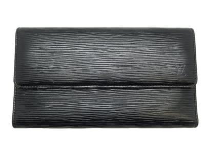 LOUIS VUITTON ルイ ヴィトン エピ ポルトトレゾールインターナショナル M63382 三つ折 長財布 ノワール ブラック
