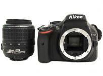 Nikon ニコン 一眼レフ D5200 18-55 VR レンズキット ブラック デジタル カメラ D5200LKBK