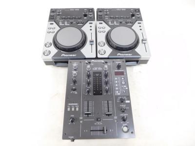 Pioneer DJM-400 CDJ-400 ミキサーセット 楽器 DJ機器 CDJプレイヤー 3点セット