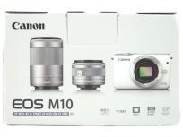 Canon EOS M10 ミラーレスカメラ ダブルズーム ホワイト