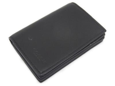 コーチ COACH カードケース 名刺入れ ブラック レザー