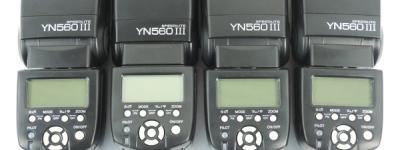 YONGNUO YN560 III フラッシュ ストロボ 4台 SET