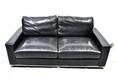 ウルティマ ソファ 2.5人掛 OL10001-180cm-HL レザー 革 黒 大型