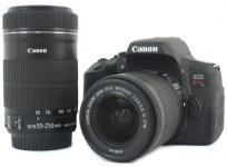良品 Canon EOS Kiss X8i ダブルズームキット デジタル 一眼レフ カメラ ボディ レンズ