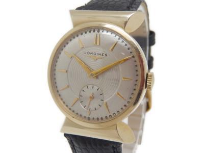 ロンジン ボーイズ 手巻き K14 金無垢 アンティーク 腕時計