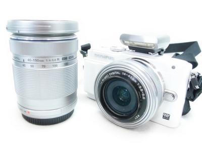 OLYMPUS オリンパス PEN Lite E-PL6 ダブルズームキット カメラ ミラーレス一眼 シルバー