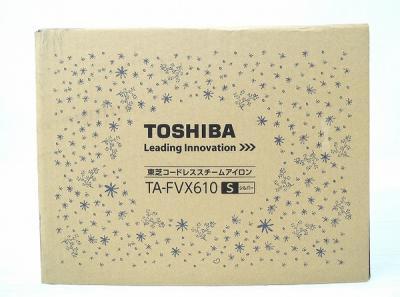 TOSHIBA 東芝 美ラクル ラクー TA-FVX610(S) コードレス スチーム アイロン シルバー