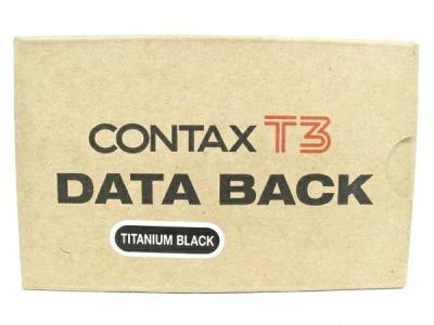 CONTAX T3 DATA BACK TITANIUM BLACK データ バック
