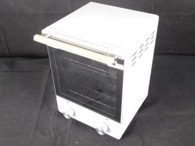 アマダナ ハイアール 縦型オーブントースター 上下2段 コンパクト ATT-T11 ホワイト