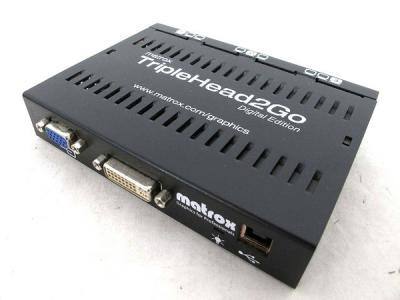 matrox マルチモニター出力グラフィックボックス TripleHead2Go T2G-D3D-1F