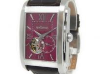 NEWYORKER ニューヨーカー NY004.08 メンズ 腕時計 自動巻き 機械式 ステンレス 革ベルト 裏スケ オープンハート文字盤