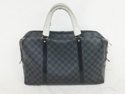 ルイヴィトン ダミエ グラフィット ポルトドキュマン ヴォワヤージュ ホワイトハンドルカバー N51195 メンズ ブリーフケース ビジネスバッグ 書類鞄