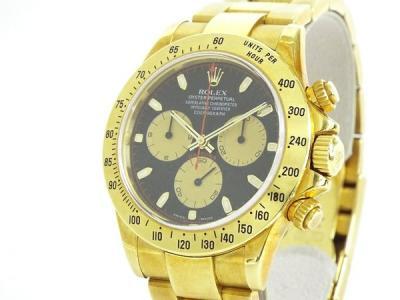 ROLEX ロレックス デイトナ 116528 メンズ 腕時計 クロノグラフ K18YG 金無垢 黒文字盤