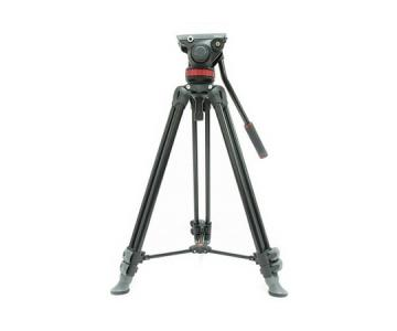 Manfrotto 伸縮式ツイン アルミ三脚 MVT502AM プロフルードビデオ雲台 75mmポール MVH502A セット