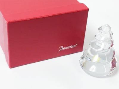 バカラ クリスマス オーナメント ツリー 置物 オブジェ インテリア 飾り グラス ガラス