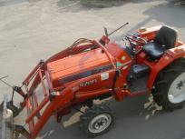 岩手県発 クボタ サンシャイン Z L1-225D トラクター 4WD 22馬力 RL15 ロータリー グレイスローダー 付 乗用 農耕用 直