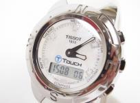 TISSOT ティソ Tクラシック レディース 腕時計 ステンレス ラバー クォーツ ピンクシェル デジアナ文字盤
