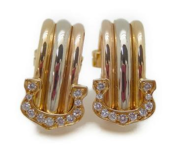 カルティエ Cartier 2C イヤリング スリーカラー ダイヤ
