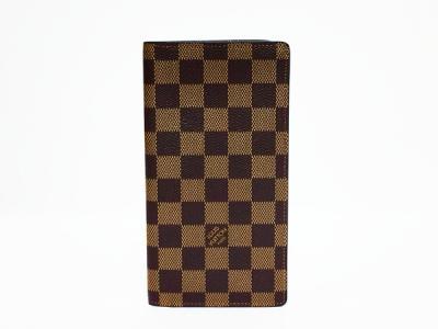 LOUIS VUITTON ルイヴィトン ダミエ ポルトフォイユ・ロン N62228 エベヌ 二つ折り財布 長財布 札入れ