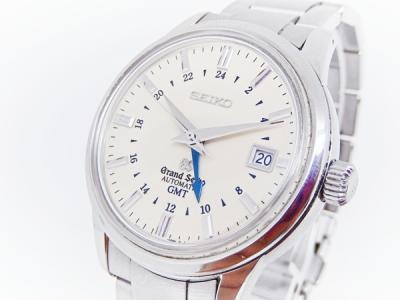 SEIKO グランドセイコー メカニカル GMT SBGM003 メンズ 腕時計 ステンレス 自動巻き デイト アイボリー文字盤