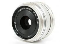 OLYMPUS M.ZUIKO DIGITAL 17mm F1.8 単焦点レンズ シルバー カメラ カメラ用交換レンズ