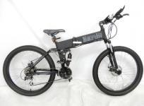 京の洛スク BARON-X 26 電動アシスト 自転車 マウンテンバイク マットブラック 大型の買取