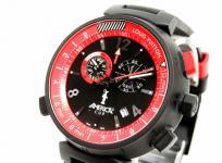 LOUIS VUITTON ルイヴィトン タンブール アメリカズカップ 限定 Q101A0 メンズ 腕時計 ラバー 黒×赤 クロノグラフ クォーツ 黒文字盤