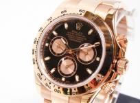 品 ロレックス コスモグラフ・デイトナ 116505 PG M番 メンズ 腕時計 K18 無垢 自動巻き クロノ 黒文字盤