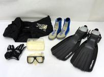 TUSA フィン マスク ブーツ グローブ メッシュバック ダイビング用品セット