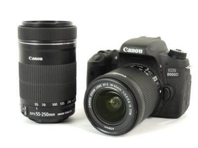 Canon EOS 8000D ダブル ズーム キット 一眼レフ カメラ BG-E18 付 機器