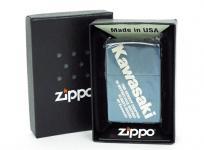 Kawasaki Zippo ブルーチタン ライター ジッポ 本体