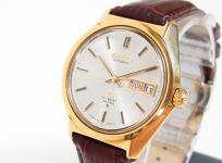 SEIKO グランドセイコー ハイビート 36000 6146 メンズ 腕時計 自動巻き K18YG 750 金無垢 アンティーク デイデイト シルバー文字盤