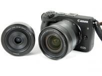 Canon キヤノン ミラーレス一眼 EOS M3 ダブルレンズキット デジタル カメラ ブラック EOSM3BK-WLK