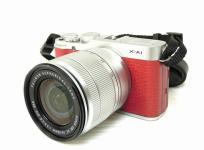 FUJIFILM 富士フィルム ミラーレス一眼 X-A1 ダブルズームレンズキット レッド デジタル カメラ