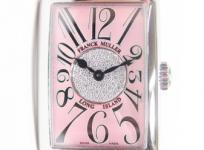 フランクミュラー ロングアイランド 902QZCD1P レディース 腕時計 ステンレス クォーツ ダイヤモンド クロコ ピンク文字盤