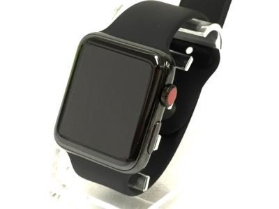 Apple Watch Series 3 Stainless Steel 42mm (3rd gen) MQM02J/A スペースブラックステンレススチールケース ブラックスポーツバンド