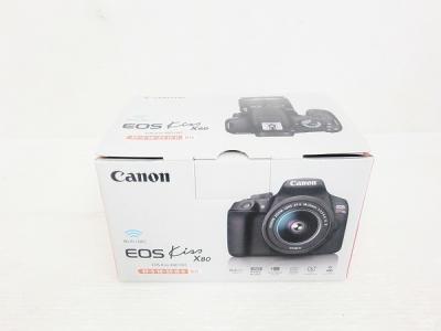 Canon キャノン EOS Kiss X80 EF-S 18-55 IS II デジタル ー眼レフ カメラ レンズ キット 約 1800万画素