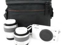 Nikon 1 J1 ダブルズームレンズキット ホワイト 付属品 おまけケース付 撮影 趣味 コレクション