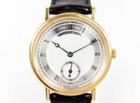 BREGUET ブレゲ クラシック 5907 メンズ 腕時計 K18YG 750 金無垢 自動巻き スモールセコンド 裏スケ シルバー文字盤