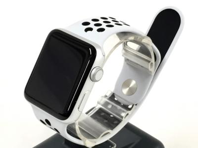 Apple Watch Nike+ Series 3 GPSモデル 42mm MQL32J/A ピュアプラチナ ブラックNikeスポーツバンド