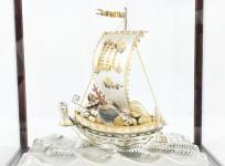 関 武比古 作 銀製 置物 宝船 SILVER 985 by TAKEHIKO